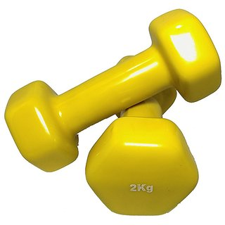 SKFZ Made in India Vinyl Dumbbell 2 Kg (Set of 2)