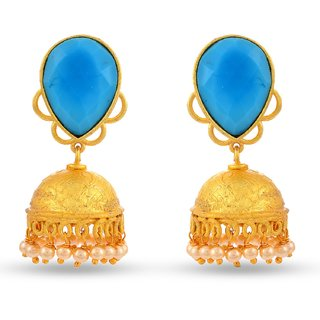 Tistabene Retails Contemporary Colored Stone Indo Western Jhumki Earring for Women And Girls (ER-2026)