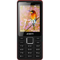 ZEN Ultra 504 Dual SIM Feature Phone (Black-Red)