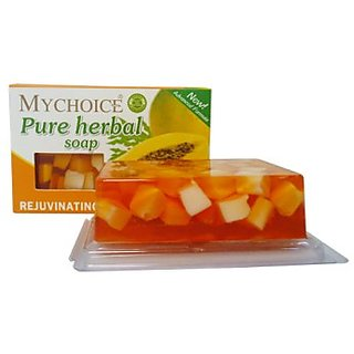 PURE HERBAL PAPAYA WHITENING SOAP makes skin soft fair  scar free