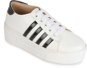 Sapatos Women's White Casual Shoes