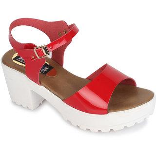 Sapatos Womens Red Block Heels