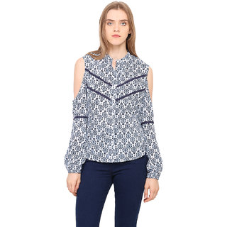 883ff2cde5155 Buy Akaayu Women Cold Shoulder Lace Top Online   ₹1199 from ShopClues