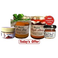 Farm Naturelle 100 Pure Raw Natural Honey With Acacia Honey Pack of 2(250 gms) and Cinnamon power and another flower ho