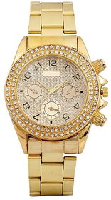 NEW TRUE COLORS AD DIAMOND GOLD PLATED RICH MAN Analog Watch - For Boys, Men