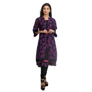 Priyaz Cotton Pink Anarkali Women's Kurti