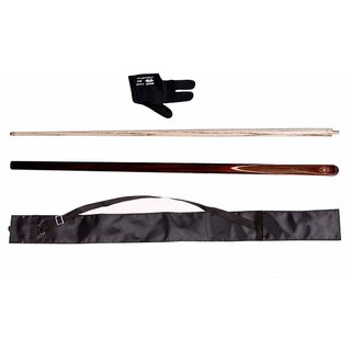 Jbb Combo Of Peradon Half Vaccum Joint Glossy Finish Snooker N Pool Cue With Cue Cover N Glove
