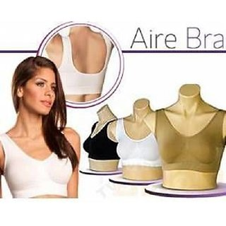 1f7ae82025 Buy Combo Pack of 3 Ladies Air Bra Slim Lift Sports Bra No Straps No Clips  (XXL) size Online - Get 58% Off