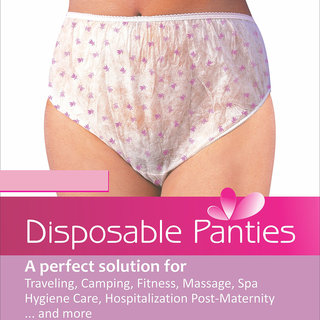 Use And Throw Disposable Panty(Pack OF 6) ,Color- White Base Multi Colors