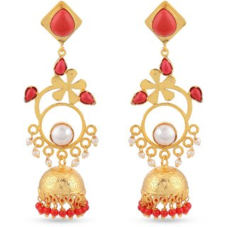 Tistabene Retails Floral Indo Western Party Wear Jhumki Earring for Women And Girls (ER-2184)