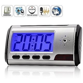 Others Universe India Digital Spy Camera 5.MP Alarm Clock Hidden Video Camcorder DVR Motion Detector (Black)