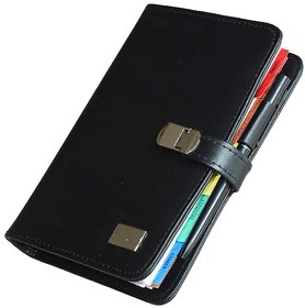 GlamGals PU leather An A5 sized organiser diary planner with spiral binding - comes with calculator , pen and credit car