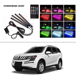 AutoStark 4 In1 Atmosphere Music Control 12 Led Foot Strip Light Car Interior Decorative Light (12 LED)-Mahindra Xuv 500