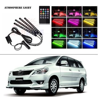 AutoStark 4 In1 Atmosphere Music Control 12 Led Foot Strip Light Car Interior Decorative Light (12 LED)-Toyota Innova