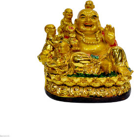 Feng Shui Laughing Buddha Surrounded By 5 Children /Kids Fulfilling Wish ReBuy