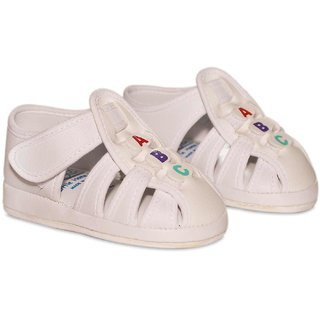 Wonderkids Casual Sandals With Velcro Strap - White (12-18 Months)