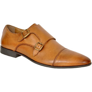 Allen Cooper ACFS-14127 Tan Leather Formal Shoes For Men