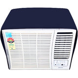 Glassiano NavyBlue Colored waterproof and dustproof window ac cover for Lloyd LW19A2P AC 1.5 Ton 2 Star Rating