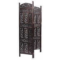 Fabulo 4 Panel Premium Quality Wooden Room Partition
