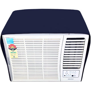 Glassiano NavyBlue Colored waterproof and dustproof window ac cover for Voltas 122LYi AC 1 Ton 2 Star Rating
