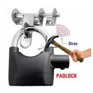 Universe india Anti Theft Burglar Pad Lock Alarm Security Siren Home Office Bike Bicycle Shop Black