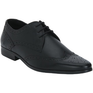 Bond Street By Red Tape Men Black Formal Brogue Shoes