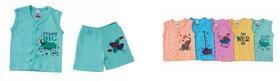 Boys sleeveless Tshirt and Half pant Combo ( Set of 5 )