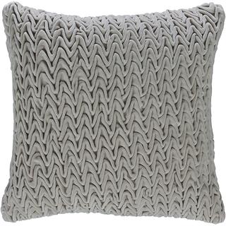 Beige Textured velvet cushion