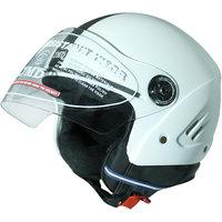 Grand - White Open Face Helmet