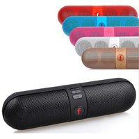 Capsule Pill Portable Wireless Bluetooth Stereo Speaker-FM-Aux-Input-USB-SD Card