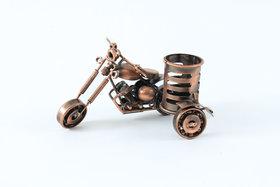 Modish Antique Metal Bike Pen Stand for Home/Office Desks