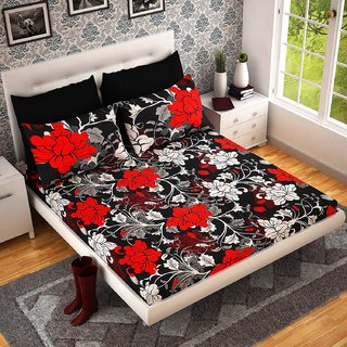 Aanand sarover Super Soft Double Bedsheet + 2 Pillow Covers(PC-DBL-3D22)