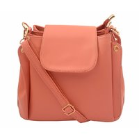 Lychee Bags Pink Self Design Casual  Sling Bag