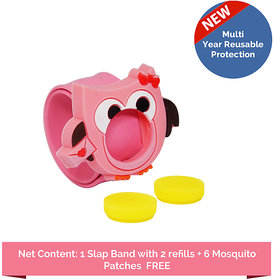 Safe-O-Kid Pack of 1Yellow Colour Triple protection Mosquito Repellent  Band with 6 refills and 6 anti mosquito patches