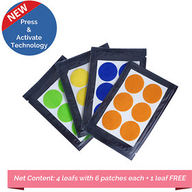 Safe-O-Kid Pack of 24(+6 Free) ASSORTED Color Mosquito Repellent Patches