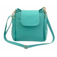 Lychee Bags Green Self Design Casual  Sling Bag