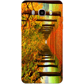 Galaxy J7 2016 Case, Galaxy On8 Case, Autumn Forest Yellow Orange Slim Fit Hard Case Cover/Back Cover for Samsung Galaxy J7 2016