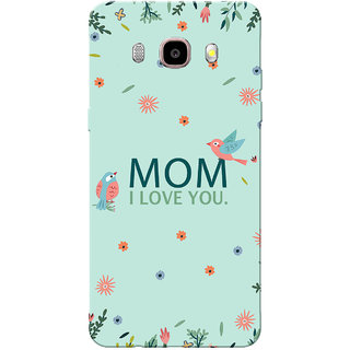 Galaxy J7 2016 Case, Galaxy On8 Case, Mom I Love You Sea Green Slim Fit Hard Case Cover/Back Cover for Samsung Galaxy J7 2016