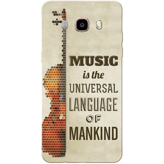 Galaxy J7 2016 Case, Galaxy On8 Case, Music Is The Universal Language Slim Fit Hard Case Cover/Back Cover for Samsung Galaxy J7 2016