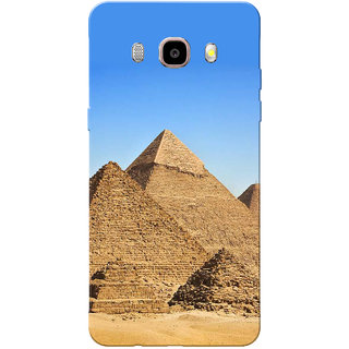 Galaxy J7 2016 Case, Galaxy On8 Case, Egypt Pyramids Blue Brown Slim Fit Hard Case Cover/Back Cover for Samsung Galaxy J7 2016