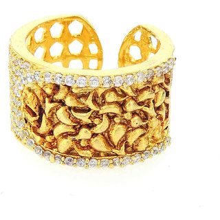 Tistabene Retails Contemporary Antique Stylish Designer Party Wear Band Ring for Women And Girls (RI-0042)