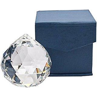ReBuy Feng Shui Hanging Clear Crystal Ball ( Pre-Energized In Rock Salt ) 30mm