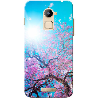 Coolpad Note 3 Lite Case, Cherry Blossom Tree Pink Blue Slim Fit Hard Case Cover/Back Cover for Coolpad Note 3 Lite
