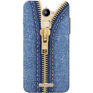 Coolpad Note 3 Lite Case, Jeans Zip Slim Fit Hard Case Cover/Back Cover for Coolpad Note 3 Lite