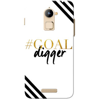 Coolpad Note 3 Lite Case, Goal Digger Black White Slim Fit Hard Case Cover/Back Cover for Coolpad Note 3 Lite