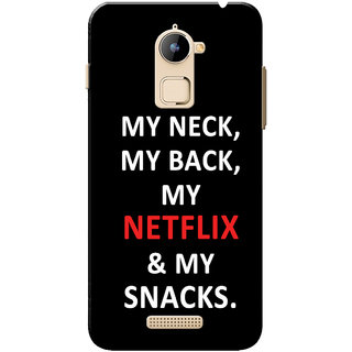 Coolpad Note 3 Lite Case, My Netflix My Snacks Black White Slim Fit Hard Case Cover/Back Cover for Coolpad Note 3 Lite