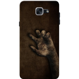 Galaxy J7 Max Case, Galaxy On Max Case, Ghost Hand Dark Brown Slim Fit Hard Case Cover/Back Cover for Samsung Galaxy J7 Max