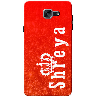 Galaxy J7 Max Case, Galaxy On Max Case, Shreya Red Slim Fit Hard Case Cover/Back Cover for Samsung Galaxy J7 Max