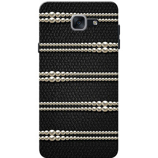 Galaxy J7 Max Case, Galaxy On Max Case, Pearls Black Slim Fit Hard Case Cover/Back Cover for Samsung Galaxy J7 Max