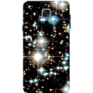 Galaxy J7 Max Case, Galaxy On Max Case, Sparkles Black Slim Fit Hard Case Cover/Back Cover for Samsung Galaxy J7 Max